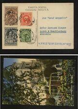 Bolivia,  Cochabamba   Graf  Zeppelin  card  to  Germany  1932      MS1201