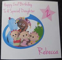 Personalised In The NIght Garden Birthday Card - Girl/Boy 1st 2nd 3rd 4th {G54}