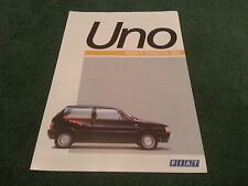 May 1988 Fiat UNO 45 45S FIRE 1000 - FRENCH FOLDER BROCHURE