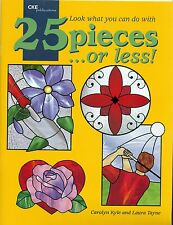 25 Pieces or Less Stained Glass Pattern Book, Squirrel, Iris, Butterflies, Trout