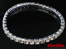 Costume Jewellery Stretch Elastic Crystal Diamond Shine 1 row Bracelet B10