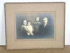 """Vintage Brown Tone Cabinet Family Photo 4.5x6.5"""" in 10x8"""" photo folder FREE SH"""