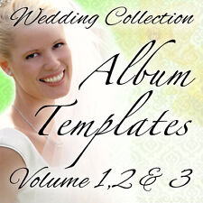WEDDING PHOTO ALBUM TEMPLATES PSD PHOTOSHOP VOL.1 2 & 3