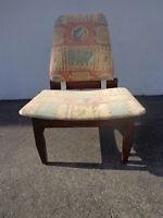 Chair Mid Century Modern MCM Danish Teak Style Seating Lounge Accent Vintage MCM