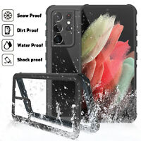 For Samsung Galaxy S21 Ultra 5G Waterproof Diving Case Built-in Screen Protector