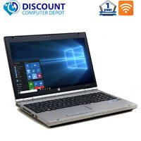 "HP 8560p 15.6"" Laptop Computer Core i5 8GB 256GB SSD DVD Wifi Windows 10 Pro PC"