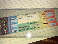 Historical U2 First Tour Full Ticket Red Creek Inn Rochester John Scher/Wcmf Pre