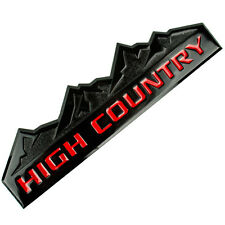 BLACK/RED HIGH COUNTRY MOUNTAIN METAL OEM EMBLEM/BADGE/LOGO FOR TRUNK HOOD DOOR