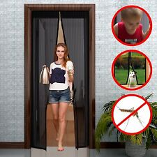 Strong Velcro Mosquito Door Net Mesh Screen Bug Fly Pet Patio Magic Closer 34x82
