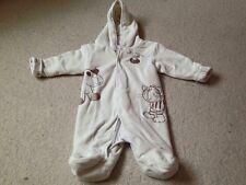 Cream Fleece Snowsuit Age 0-3 Months