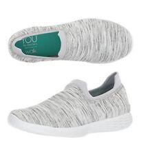 NEW Skechers You Define Grace Women's Sneaker Walking Shoes Grey White Size 7.5