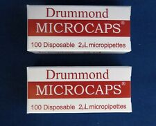 200 Drummond Microcaps Microliter Pipets 2µL 1-000-0020 Micropipettes