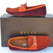 GUCCI New sz 11 G - US 11.5 Authentic Designer Mens Drivers Loafers Shoes