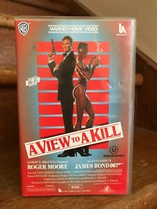 Rare Vintage  A VIEW TO A KILL James Bond Action Movie VHS Video Ex Rental Tape