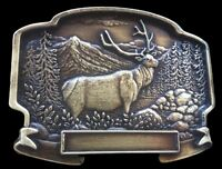 Canada Hunting Belt Buckle Elk Moose Hunters Engraveable Boucle de Ceintures