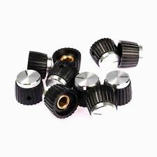 10 x Guitar Amplifier Knobs Black w/ Silver Cap for Marshall Amplifier Set Screw