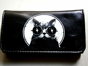 ELECTRO CAT HI QUALITY ROLLING TOBACCO POUCH CASE WALLET BOLT LIGHTNING GLASSES