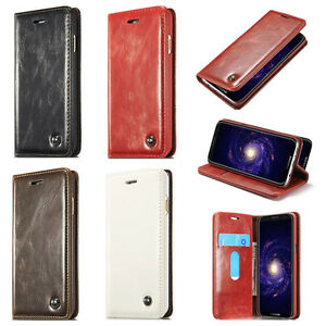 CaseMe Wallet Flip Phone Case For iPhone X XS Max 5 6 7 8 Samsung S9 Huawei P20