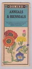 Les plantes annuelles et biennales (Domino) carte – Plié Imprimé sur orange papier out of print