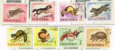 Albania Fauna Wild Animals set of 8 stamps 1971