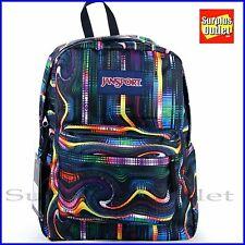 Jansport Backpack Superbreak Multi Frequency School Book Bag 2456eb5be7bd4