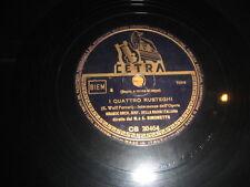 """12"""" 78 RPM vinyl GRANDE ORCH SINF DELLA RADIO ITALIANA A. SIMONETTO I QUATTRO RU"""