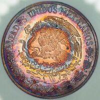 1974-Mo MEXICO 20 CENTAVOS GEM CHOICE BU TARGET TONED STUNNING COLOR UNC (DR)