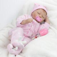 "22"" Gift Baby Girl Doll Lifelike Toy Vinyl Silicone Reborn Newborn Dolls+Clothes"