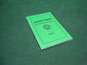 Vintage ORIGINAL Dinky Toys Collector's Licence 1961-62 ~ UNUSED