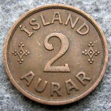 ICELAND CHRISTIAN X 1942 2 AURAR