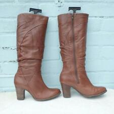 Clarks Leather Boots Size UK 5.5 Eur 38.5 Sexy Womens Ladies Brown Boots