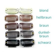 Tressenclips Gr. L 3,1x1,7cm Clips Clip in Extensions Ersatz Tressen Haartresse