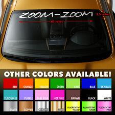 """MAZDA ZOOM-ZOOM MAZDASPEED Windshield Banner Vinyl Decal Sticker 40""""x3.5"""""""
