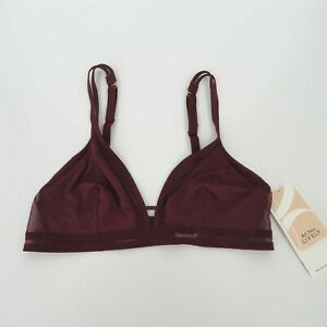 All.You. Lively Women's Mesh Trim Bralette Size Small - Plum