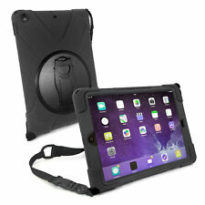 TUFF LUV Armour Case / Stand with Shoulder Strap for iPad 9.7 2017 2018 - Black
