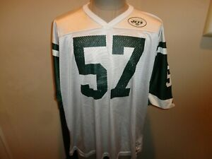Vtg 90's Champion New York Jets #57 Mo Lewis NFL Football Screen Jersey Adult 48