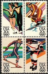 USA 1984 Sc2067-70a 1 block MNH 14th winter Olympic Games