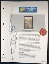 Olympics Los Angeles 1984 USA Gold stamps 99,8% Goldauflage* Only 4.999 MNH 9/9