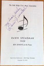 Tenor Rawn Spearman Autograph Program