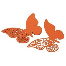 50x Butterfly Wedding Name Place Cards For Wine Glass Laser Cut Pearlescent Card