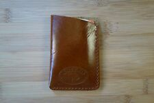 HANDMADE LEATHER Card holder cash  sleeve business cards money clip ID wallet