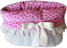 Pet Flys Pink Skulls Snuggle Bugs Pet Bed, Carrier Bag, Car Seat All-in-One