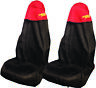 Car Seat Covers Waterproof Nylon Front Pair Protectors RED fits Ford Ka Focus