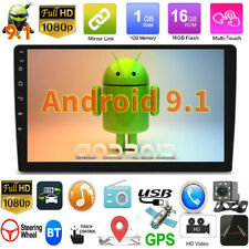 "HD 10"" 2DIN Android 9.1 Car Stereo GPS Navi FM Radio MP5 Player WIFI with Camera"