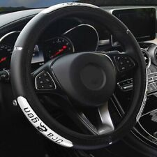 """Nouveau Couvre Volant Cuir Noir Premium Premium 40cm 16 /"""""""
