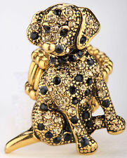 Dog stretch ring cute animal bling scarf jewelry gift dropshipping gold