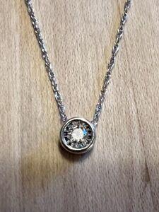10k white gold diamond pendant from Zales