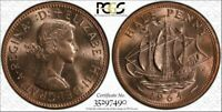 1964 Great Britain Half Penny BU PCGS MS64RD (Red) ONLY 2 Graded Higher