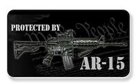 We The People Protected By AR-15 Magnet-Package of Two
