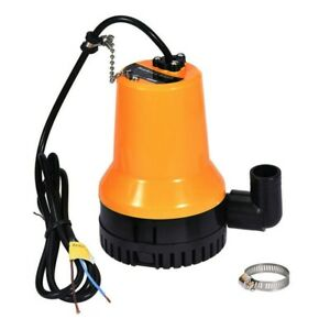 12V Electric Submersible Pump Pond Pool Dirty Water Clean Garden Flood 1000gal/h